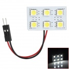 T10 / BA9S / Spring Festoon 1.8W 66lm 6-SMD 5050 LED White Light Car Leselampe (12V)