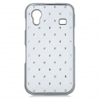 Protective CrystalPlastic Back Case for Samsung Galaxy Ace S5830 - White + Silver