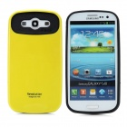 Cool Protective Plastic Back Case for Samsung Galaxy S3 i9300 - Yellow + Black