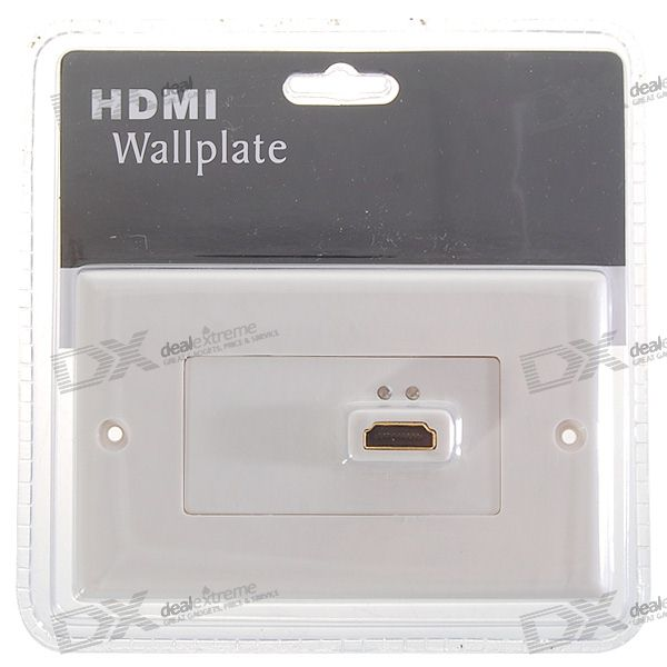 1080p Hi-Def HDMI Wallplate Wall Outlet (Type A 19-Pin Connector)