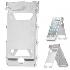Armor Shape Protective Aluminum Alloy Flip-Open Case w/ Screen Film + Sticker for iPhone 5 - Silver