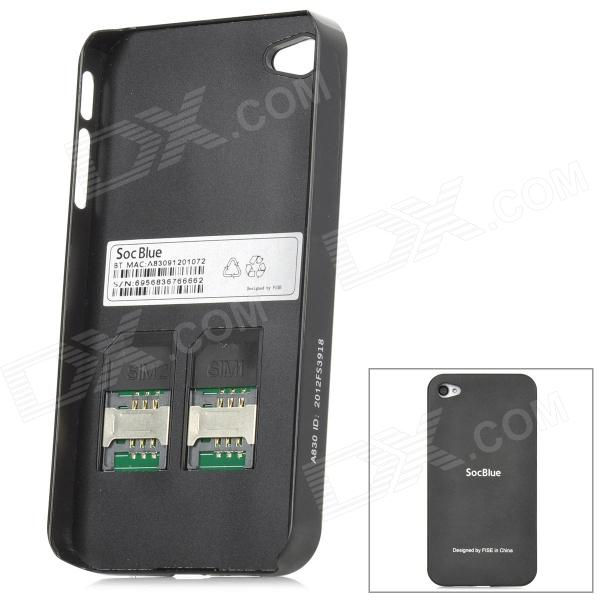 SocBlue A830 Bluetooth V2 1 GSM Dual SIM / Standby Adapter for iPhone 4 /  4S - Black