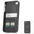 SocBlue A830 Bluetooth V2.1 GSM Dual SIM / Standby Adapter for Iphone 4 / 4S - Black