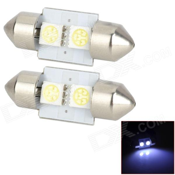 Adorno 31mm 0.6W 22lm 2 SMD 5050 LED blanco luz de lámparas - (DC 12V / 2 PCS)