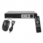 Embedded Linux DCP08 8-CH Network DVR Digital Video Recorder - Black