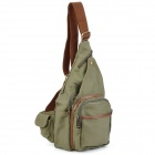 Protective Canvas Camera Messenger Shoulder Bag for DSLR Camera - Army Green