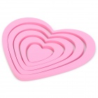 3D Heart Shape Home Wall Decor Sticker - Pink