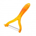 904 Healthy ABS + Stainless Steel Fruit Vegetable Peeler - Orange + Silver
