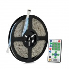 72W 1500lm 300-5050 SMD LED RGB Decoration Light Strip w/ LED Controller Set (5m / 100~240V)