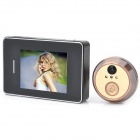 "2,8 ""Touch Screen 2.0 MP CMOS Digitale Peephole Video Türklingel w / 2-LED Nachtsicht - Schwarz"