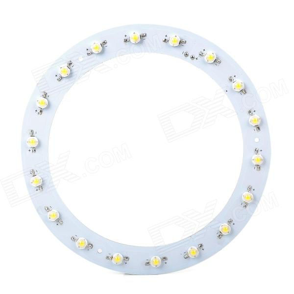 18W 1800lm 3500K 18-LED Warm White Light Source Module - White + Yellow (DC 57~65V)