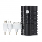 MKPBMINI-001 5000mAh Portable External Battery w/ Electric Torch for Smart Mobile Phone - Black