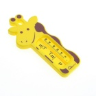 G901 Cute Cartoon Style Baby's Bathing Water Measurement Thermometer - Yellow + Brown