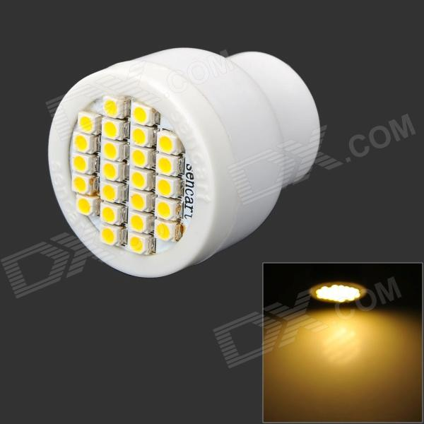 GU10 2W 96lm 3500K 24-SMD 3528 LED Warm White Light Bulb - White (AC 85~265V)