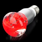 E27 3W 250lm RGB Colorful LED Crystal Light Bulb w/ Remote Controller - Red + Silver (85~265V)