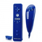 Wireless Infrared Left Right Remote Controller w/ Accelerator for Nintendo Wii U - Deep Blue
