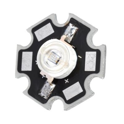 JR-460-B 55lm 3W 460nm LED Blue Light Soldering Bulb Plate - Black