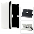 Lychee Pattern Protective Swivel PU Leather Case for Transformer Pad TF300 / TF300T - White