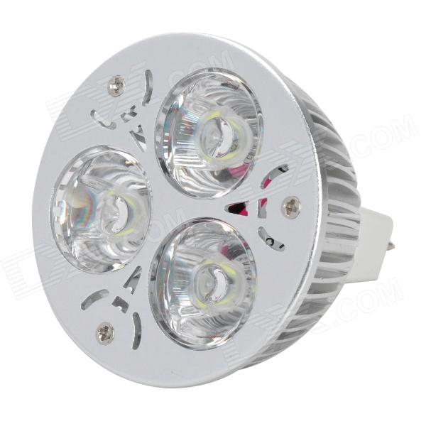 MR16 GX5.3 3W 300lm 5500 ~ 6000K 3-LED Bulbo blanco frío del proyector