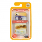 BASEUS Forest Mirage Pattern Protective PC Back Case w/ Screen Guard for Iphone 4 / 4S - Multicolor