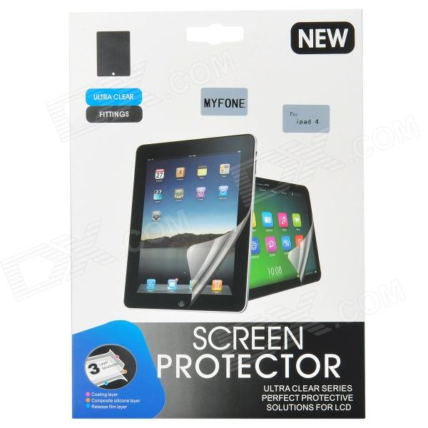 Myfone High Clear PET Screen Protector Film for Ipad 4 - Transparent