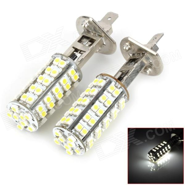 M201301068 H1 4W 300lm 68-SMD 3528 LED White Light Car Foglight / Tail Light - (DC 12V / 2 PCS) new h1 55 w 3000 k super bright car yellow light bulbs pair dc 12 v free shipping