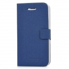 Newtons 14FASHION Flip-Open PU Leather Case for iPhone 4 / 4S - Blue