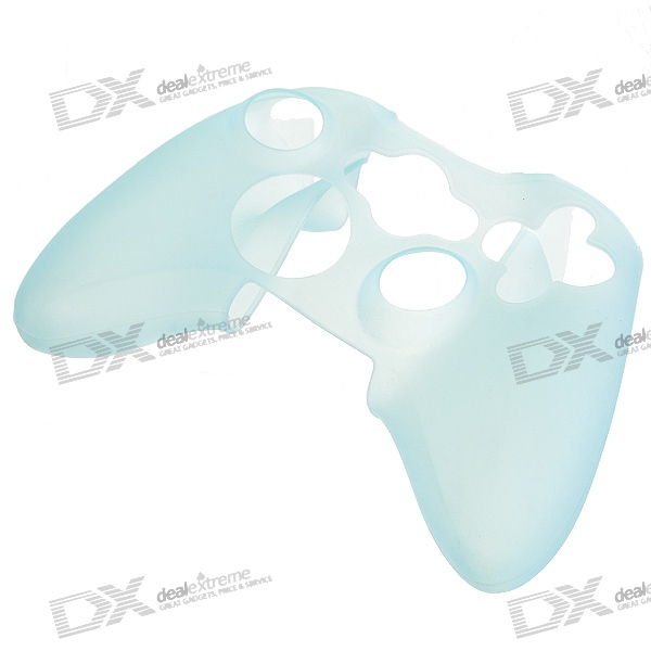 Silicone Protective Case for Xbox 360 Controller (Translucent Blue) protective silicone cover case for xbox 360 controller yellow blue