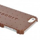 Newtons I5 Biscuit Style Protective Plastic Back Cover Case for iPhone 5 - Chocolate
