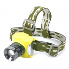 YP-3007 Cree XR-E Q5 100~250lm 3-Mode White Zooming Rechargeable Flashlight - Yellow + Grey