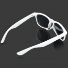 Cool Mustache Style Resin Lens ABS Frame UV Protection Sunglasses / Goggles - White