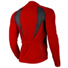 NUCKILY NJ600-L Ciclismo Bike Riding poliéster manga larga Jersey - Rojo (Talla XL)