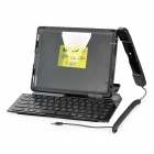 Folding Bluetooth V2.1 66-Key Wireless Keyboard w/ Stand Holder for iPad 2 / The New iPad - Black