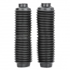 MP070 Motorcycle Front Shock Absorber Protection Dust Cover - Black (2 PCS)