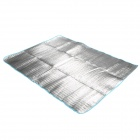 Outdoor Moisture-Proof Picnic Blanket Camping Mat Pad - Silver (194 x 145cm)