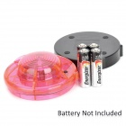 1.2W 90lm 635~700nm 1-LED Red Light Car Warning Light - Red + Black (4 x AA)