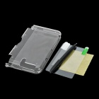 Protective PC Case w/ Screen Protector / Stylus for Nintendo 3DS LL / 3DS XL - Transparent