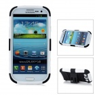 2-in-1 Protective Detachable Back Case for Samsung Galaxy S3 / i9300 - Black + White