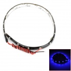 Waterproof 4.5W 90lm 450~490nm 15-SMD 1210 LED Blue Light Flexible Light Strip - Black (12V / 30cm)