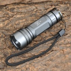 Smiling Shark SS-P432 Cree XR-E Q5 150~200lm 3-Mode White Flashlight - Grey (1 x 14500 / AA)