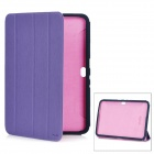 KALAIDENG Protective Artificial Leather Cover Case for Samsung N8000 - Purple