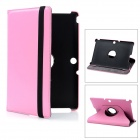 Lychee Pattern Protective Swivel PU Leather Case for Transformer Pad TF300 / TF300T - Pink