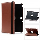 Lychee Pattern Protective Swivel PU Leather Case for Transformer Pad TF300 / TF300T - Brown