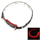 4.5W 90lm 15-SMD 1210 LED Red Light Strip (12V / 30cm)