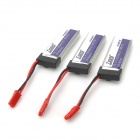 Tigers EFLB5001S 1S 3.7V 600mAh 15C Li-ion Polymer Battery Pack for R/C Aircraft (3 PCS)