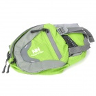 NatureHike YB02 Outdoor Mountaineering Riding Running Waist Bag - Green + Grey (3 L)