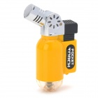 105 Mini Windproof Butane Jet Torch Lighter - Black + Yellow