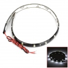 06040015 4.5W 90lm 6500K 15-SMD 1210 LED White Light Car Light Flexible Strip - Black (12V / 30cm)