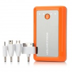 KANO 8400mAh Mobile Power Battery Charger w/ Adapters for Samsung / iPhone / Nokia - Orange
