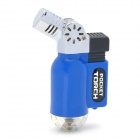 Mini Bend Iron + Plastic Windproof Butane Gas Lighter - Blue + Black